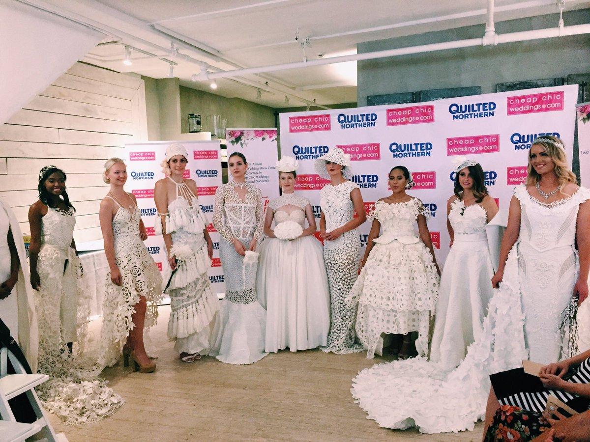¿Vestidos de novia hechos de papel de baño? Sí, y te van a encantar